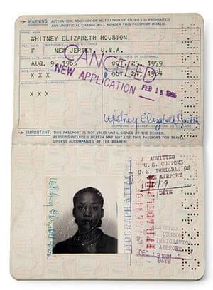 Famous Peoples Passports: Whitney Houston