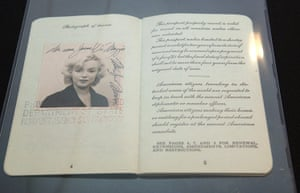 Famous Peoples Passports: Marilyn Monroe