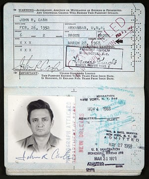 Famous Peoples Passports: Johnny Cash