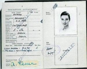 Famous Peoples Passports: Audrey Hepburn