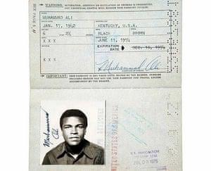 Famous Peoples Passports: Muhammad Ali
