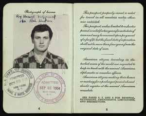 Famous Peoples Passports: Rock Hudson