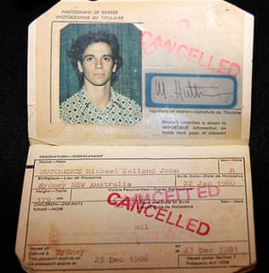 Famous Peoples Passports: Michael Hutchence