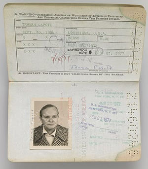 Famous Peoples Passports: Truman Capote