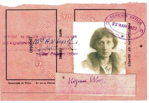 Famous Peoples Passports: Virginia Woolf