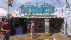 GuardianWitness WOMAD: The Festival Postcards stall at WOMAD 2013