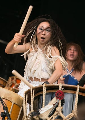GuardianWitness WOMAD: Drummer from Gocoo, the Japanese Taiko drumming group
