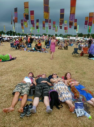 GuardianWitness WOMAD: Festival-goers relaxing at WOMAD 2013