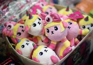 Hyper Japan London: Soft toys are displayed for sale