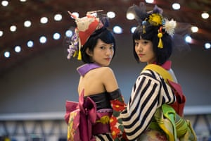 Hyper Japan London: Cosplayers at Earls Court exhibition centre