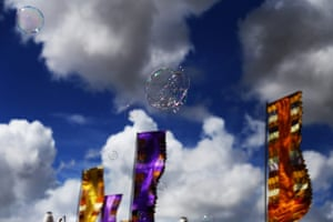 GuardianWitness WOMAD: Chasing a bubble near the Big Red tent