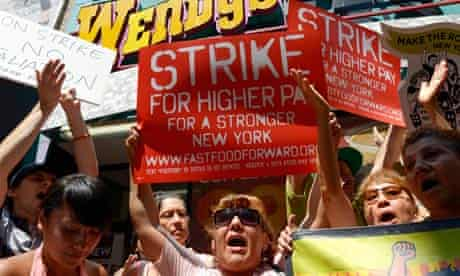 Fast food workers strike in New York
