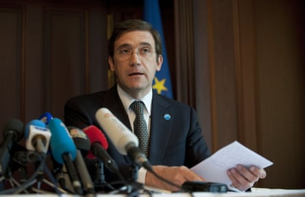 Portuguese Prime Minister Pedro Passos Coelho gives a press conference in Berlin on July 3, 2013.