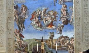 Michelangelo frescoes in the Sistine Chapel, Rome