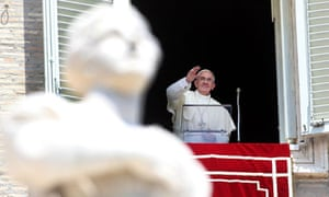 Pope Francis speaking in St Peter's Square