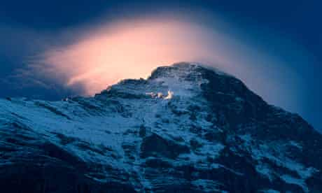 The Eiger mountain in the Bernese Alps, Switzerland