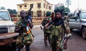 Fighters for the Seleka rebel alliance in the Central African Republic