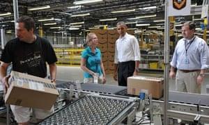 obama jobs amazon