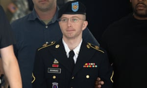 Bradley Manning leaves court after being convicted of espionage and theft charges