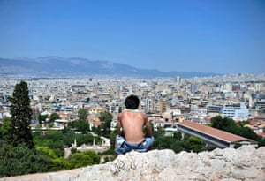 Athens. which is experiencing a heatwave this week.  EPA/FOTIS PLEGAS G.