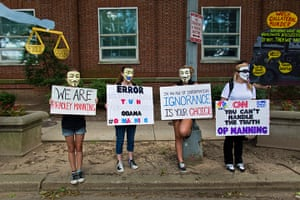Bradley Manning protests: Members of the Bradley Manning Support Network hold a demonstration outside