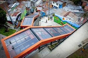 Medellin Escalator: View From Above