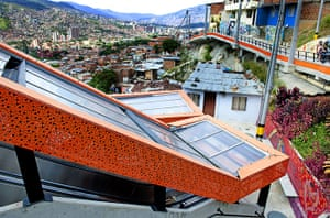 Medellin Escalator: Side View