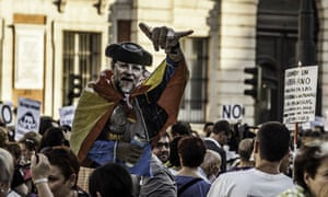 Madrid protest, government corruption