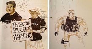 Bradley Manning court drawing