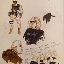 Bradley Manning court drawing 220