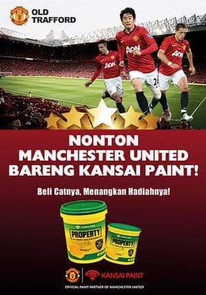 Manchester United commercial deals: Kansai Paint