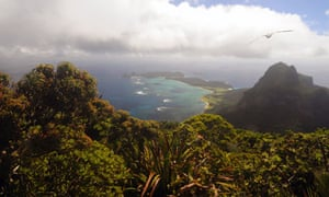 The view over Lord Howe Island