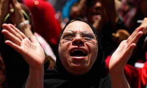 A protester in Tahrir Square