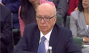 Rupert Murdoch in front of select committee