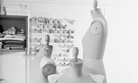 Tailor's dummy or mannequin in a dress makers