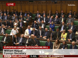 William Hague and the government benches