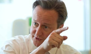 David Cameron on a visit to the Evelina London Children's Hospital in London.
