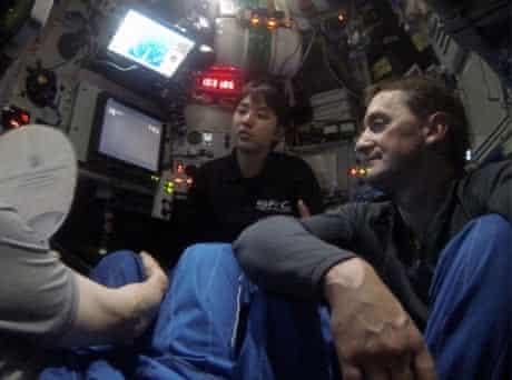 Jon Copley inside the Shinkai6500 deep-sea submersible