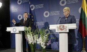 Barroso and Grybauskaite