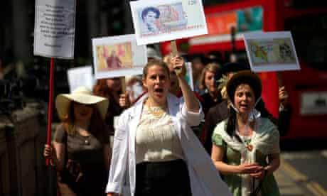 Banknote protest: Rosalind Franklin