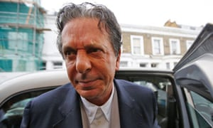 Art collector Charles Saatchi arrives at his home in west London