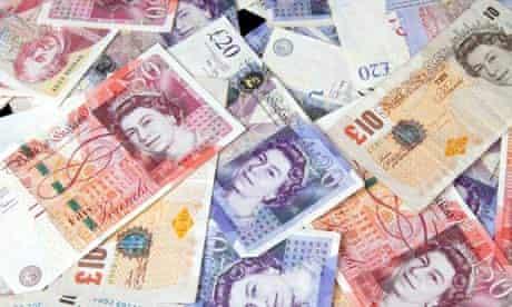 British sterling bank notes.