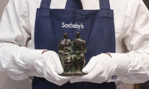 Family Group by Henry Moore, with an estimated sale value of £200,000 to £300,000, at The Best of Modern & Post-War British Art auction at Sotheby's, London.