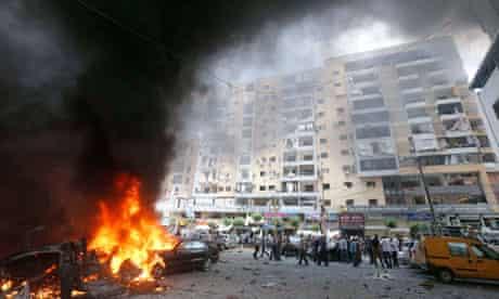 Aftermath of explosion in Beirut neighbourhood of Beir el-Abed