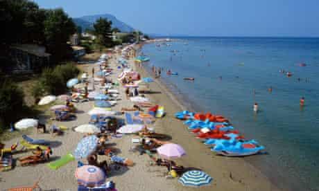 Sunny beach work life balance