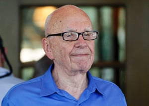 Rupert Murdoch, chief executive of News Corp. and 21st Century Fox, arrives for the annual Allen and Co. Conference at Sun Valley, Idaho. British lawmakers said they would recall Murdoch to clarify evidence he gave to them last year after he was secretly recorded belittling a police inquiry into alleged crimes committed by journalists on his papers. Photograph: Rick Wilking/Reuters