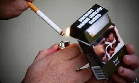 Plain packaging cigarettes