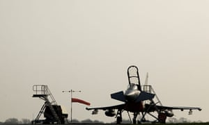 Workers building Typhoon Eurofighter jets at BAE Systems plant at Warton