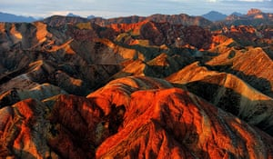 Rainbow mountains: Rugged scenery at the Danxia scenic area in Zhangye, China
