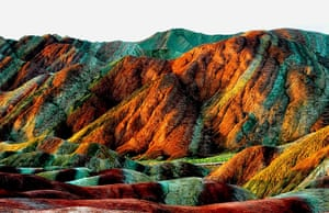 Rainbow mountains: The unique hilly terrain